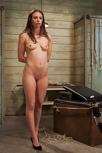 Slave trainee Casey Calvert is made to feel pretty in high heels