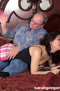 Alice Spanked by Grandpa