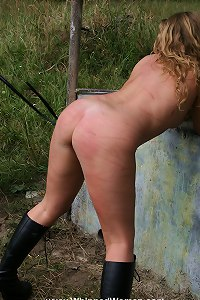 Amazing girl whipped outdoor