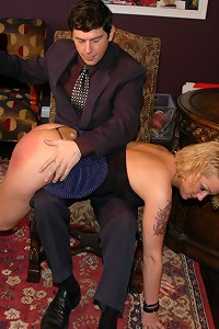 Bratty girlfriend spanked