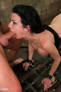 Busty MILF reduced to ruthlessly fucked bondage whore!