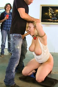 Natural HH tits tied up and abused in public, the way only James Deen and Princess Donna can abuse them.
