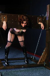 Unlucky girl in her debut bondage session locked in stock