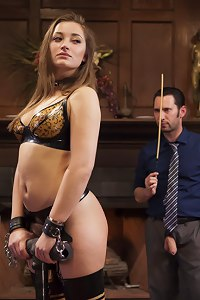 All natural slave girl is trained to take the cane like a lady should. Hardcore kinky fucking and hard discipline leave stripes of servitude on her ho