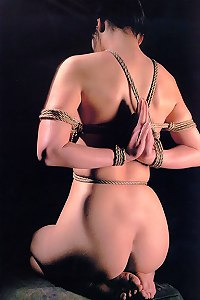 Rare shibari bondage photo set
