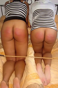 Welted buttocks for 2 cute black girls