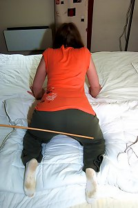 Severe domestic discipline with the cane