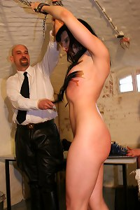 Hot sexy girl undressed and flogged