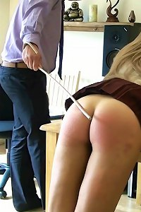 Expelled from School - Part 2 - The cane for schoolgirl Kissie