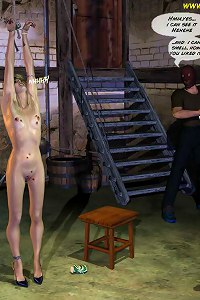 Bound, hung, whipped and humiliated by the worst wardens in QUOOM dark, damp prissons!